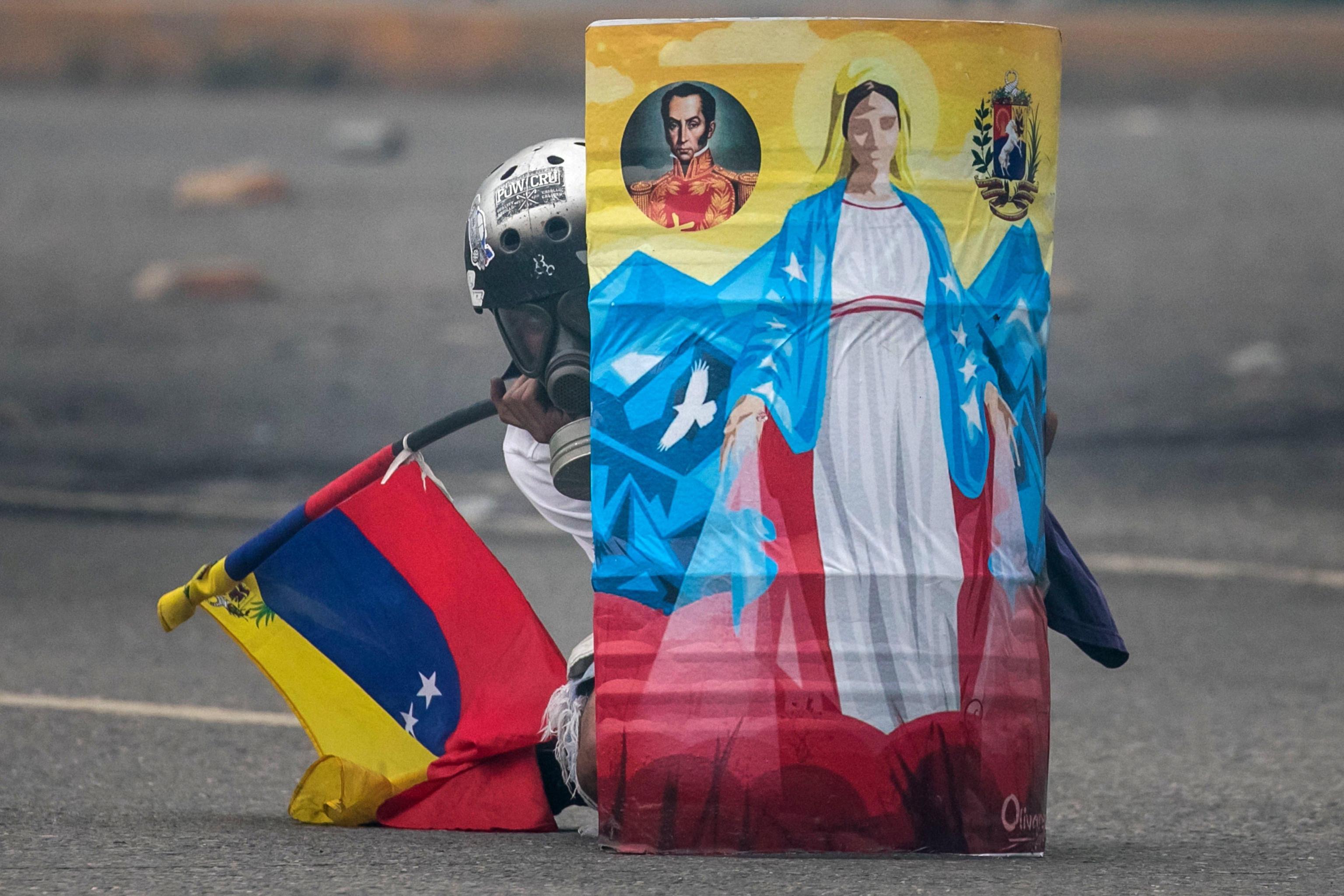 Proteste a Caracas in Venzuela