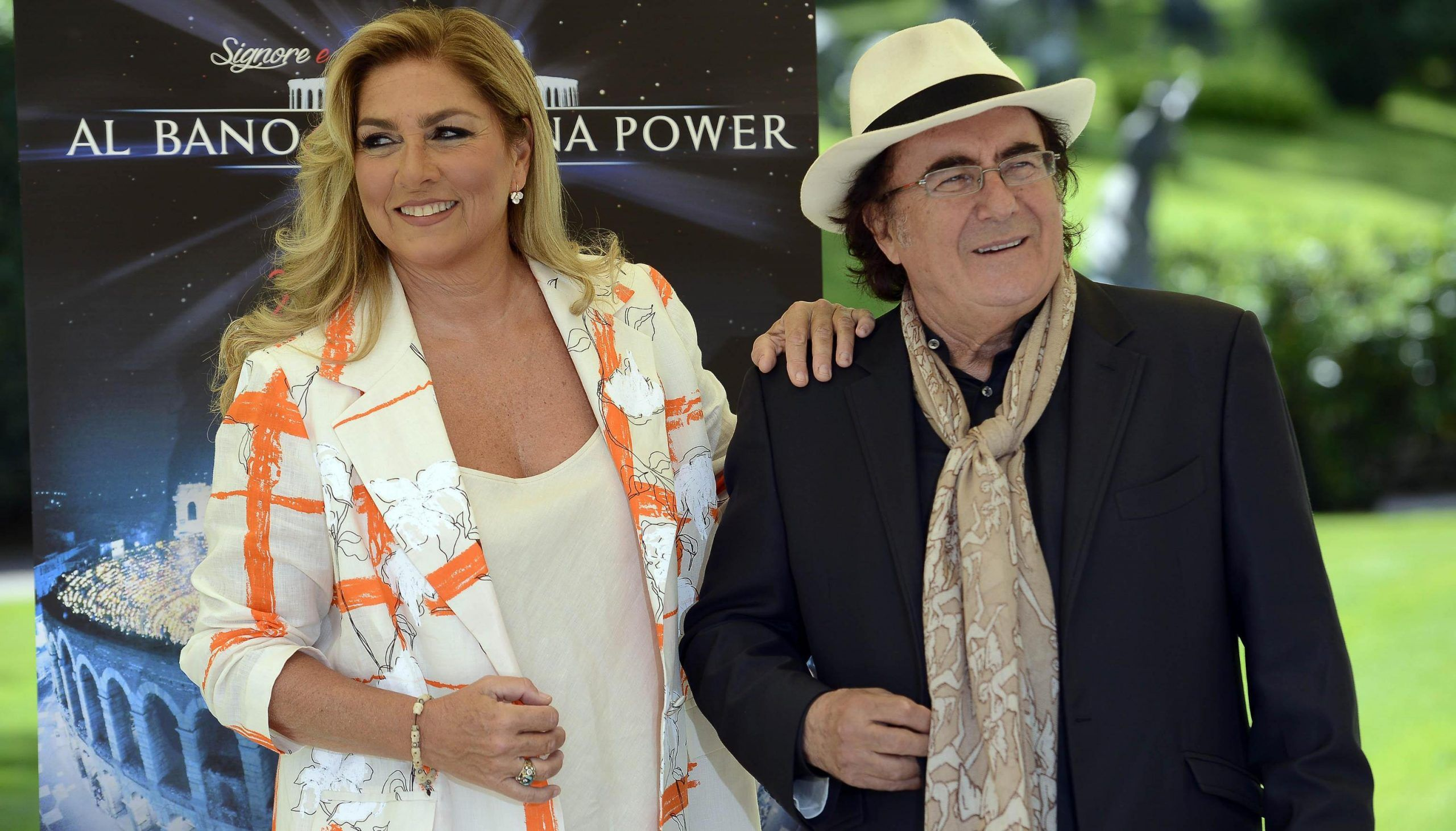 Al Bano and Romina Power during a photocall in Rome
