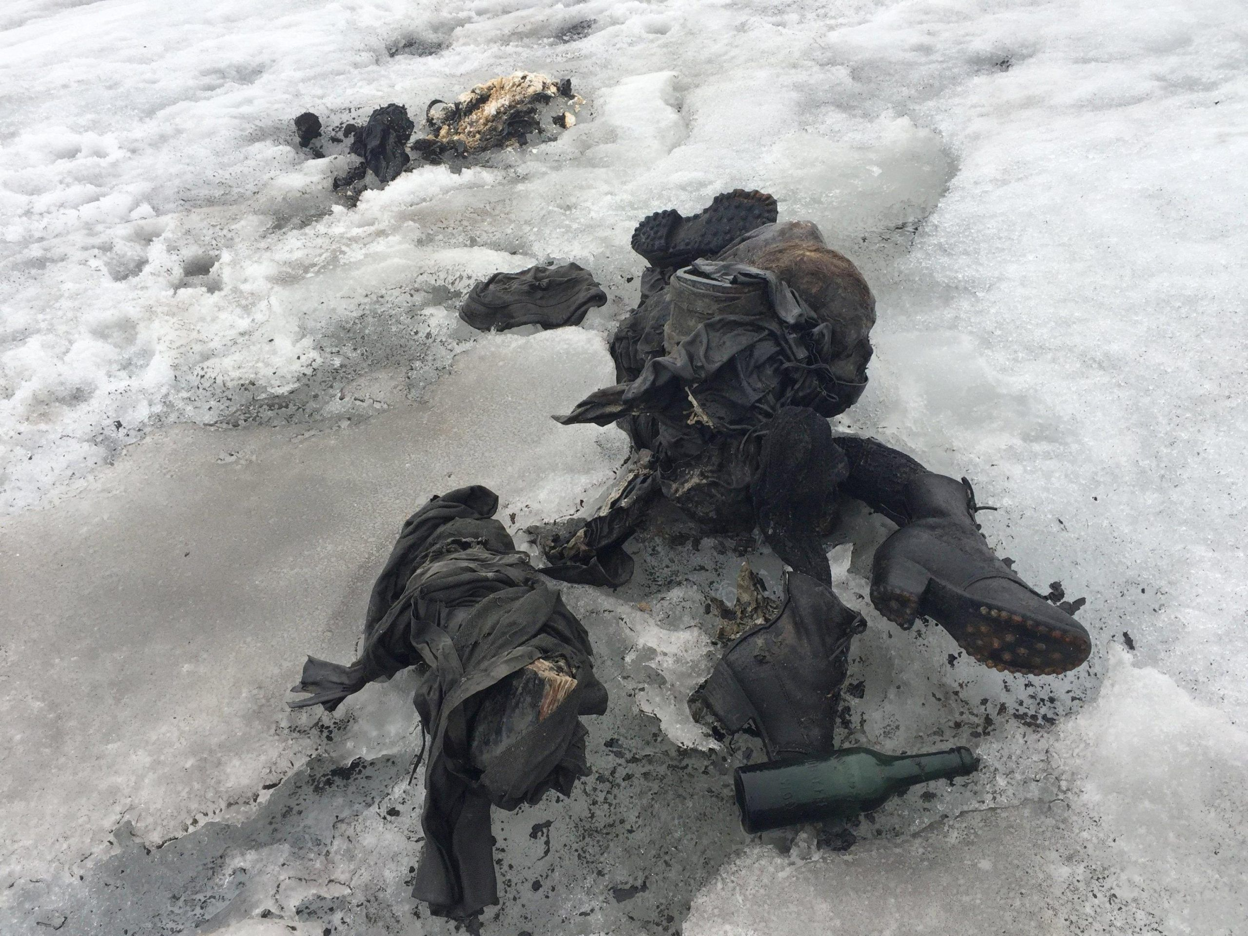 Bodies of couple found after being buried in ice for decades