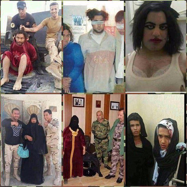 foto jihadisti travestiti daily mail