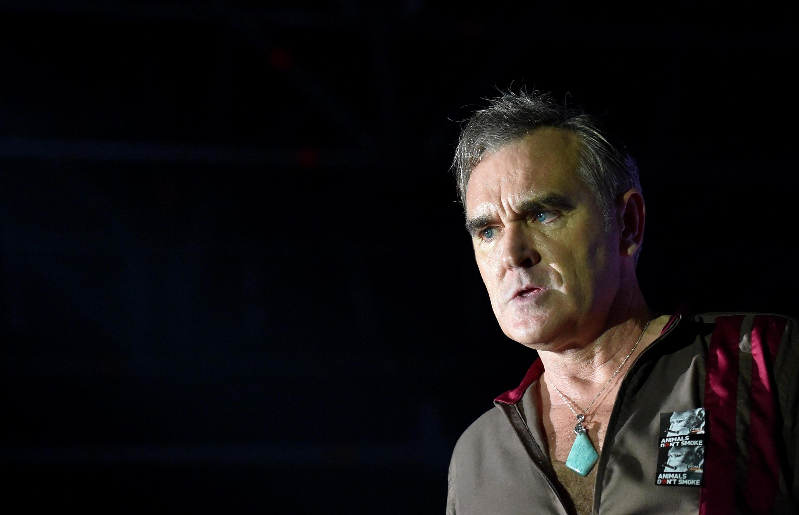 Former Smiths frontman Morrissey performs on stage