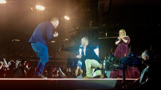 proposta di matrimonio al concerto di adele