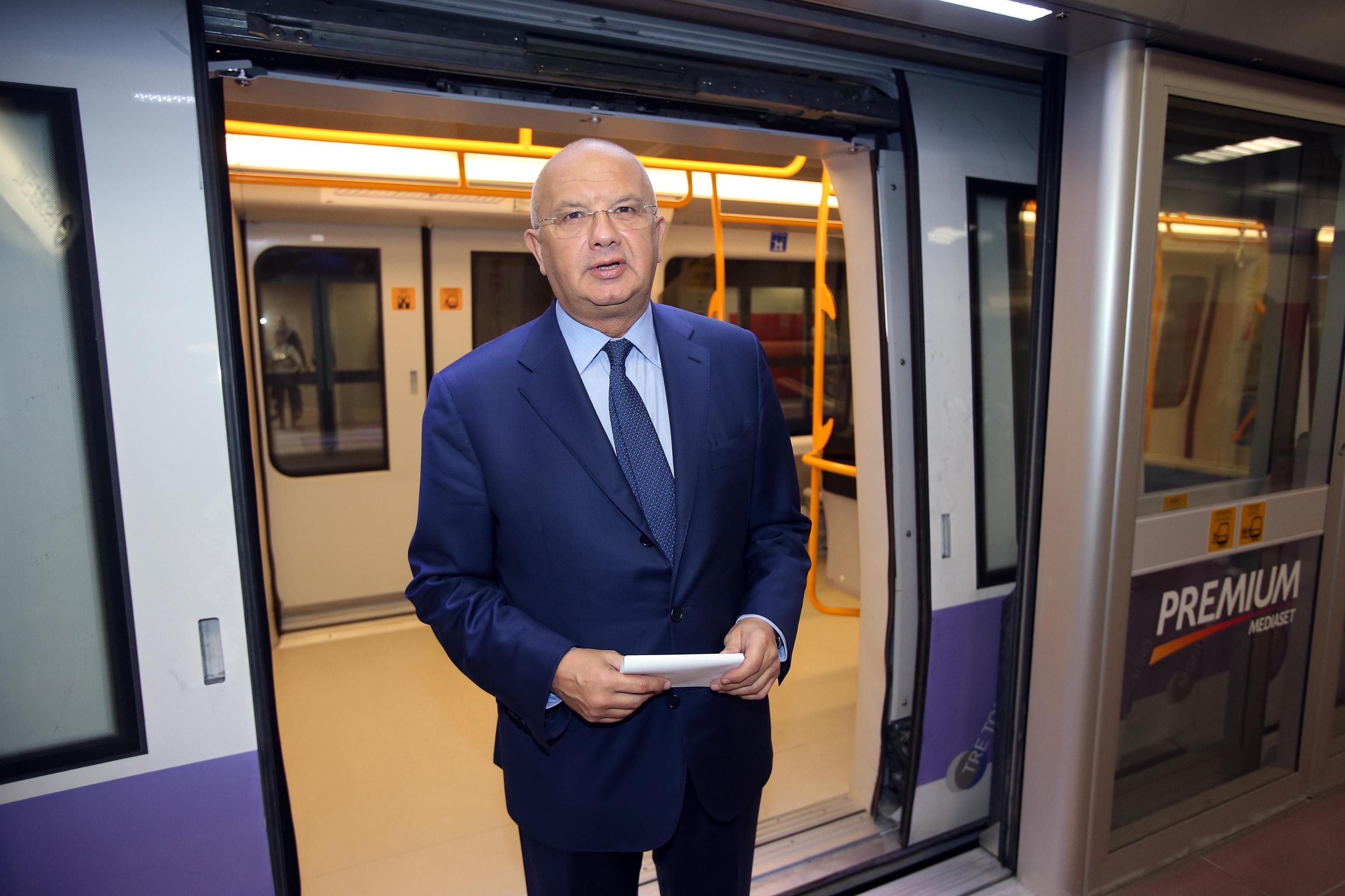 "Presentazione ufficiale stazione metropolitana M5 ""San Siro Stadio Mediaset Premium"""