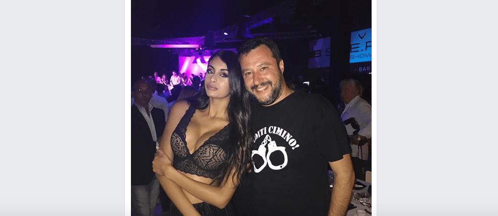 Dopo Isoardi Matteo Salvini si consola con la modella marocchina Ahlam El Brinis