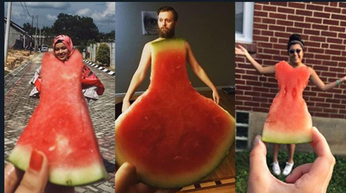 #WatermelonDress, il nuovo gioco social dell'estate: scoppia la mania dei vestiti d'anguria