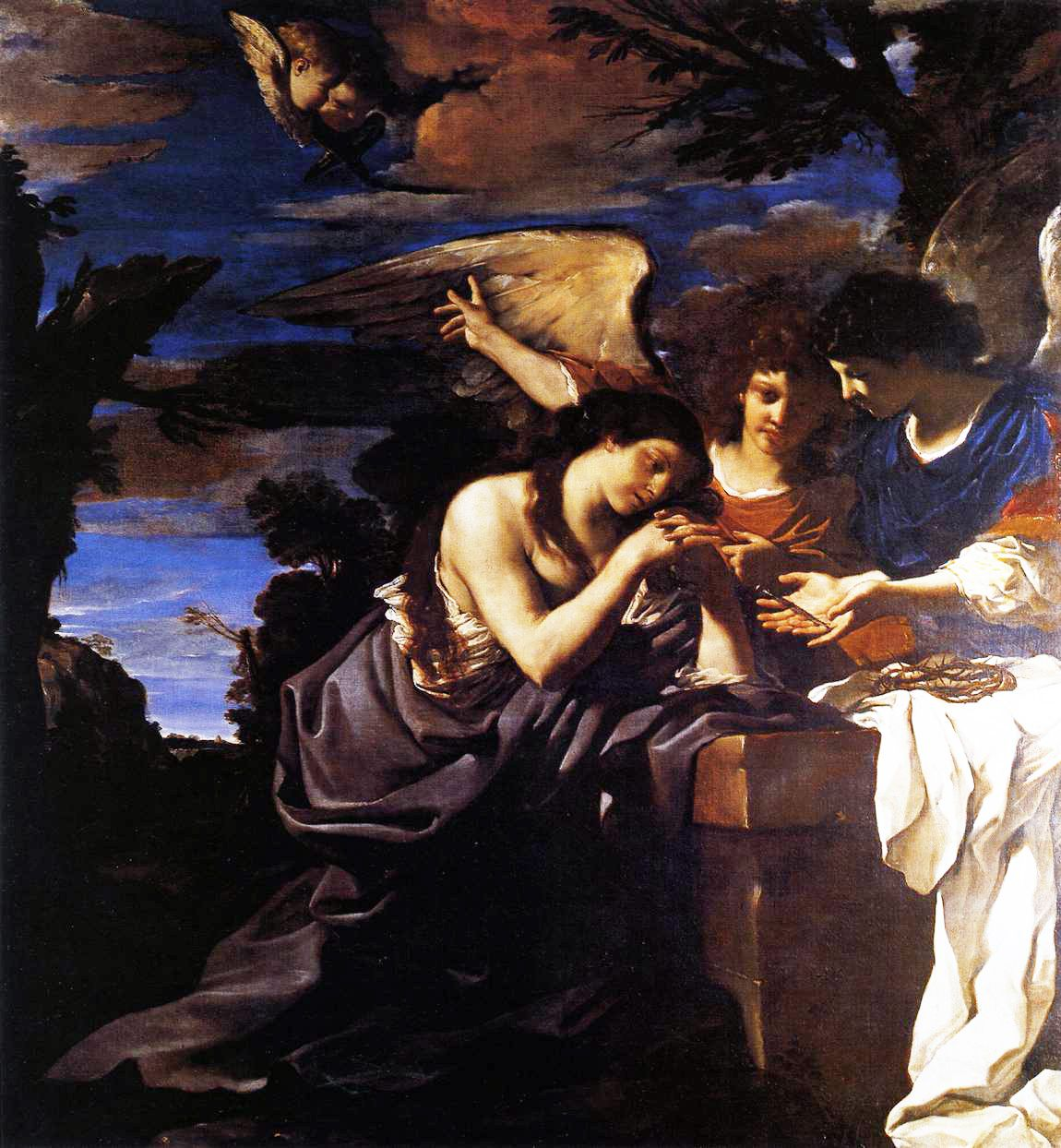 Guercino_Maddalena_due_angeli