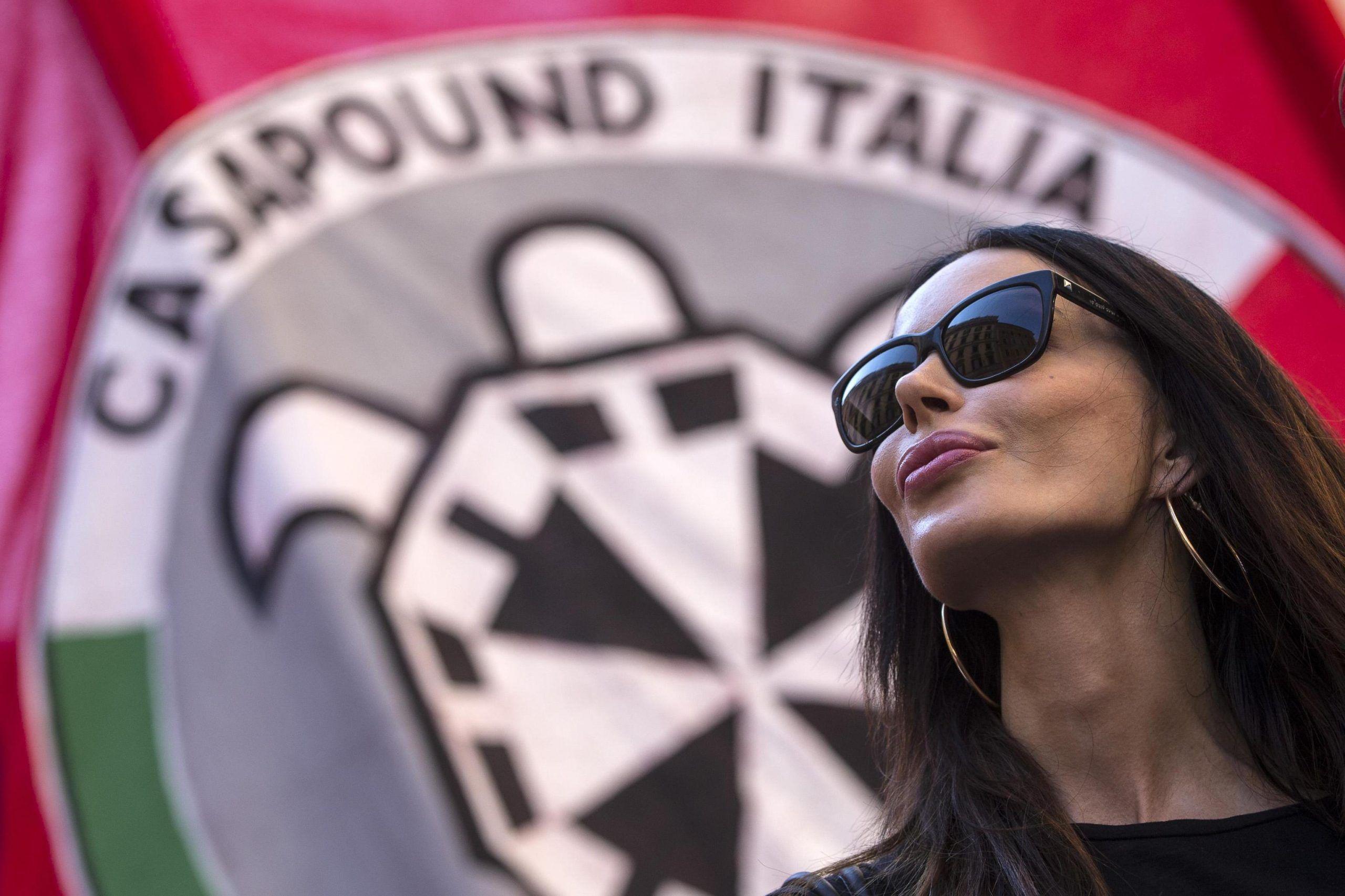 Ius Soli: 'prima gli italiani', corteo Casapound a Roma