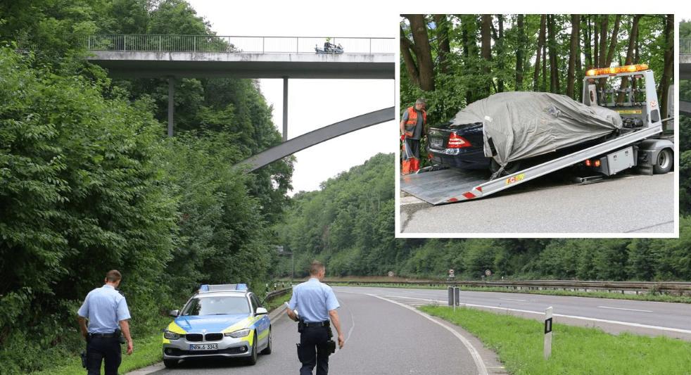Tenta il suicidio gettandosi dal ponte e sfonda un'auto di passaggio uccidendo il conducente