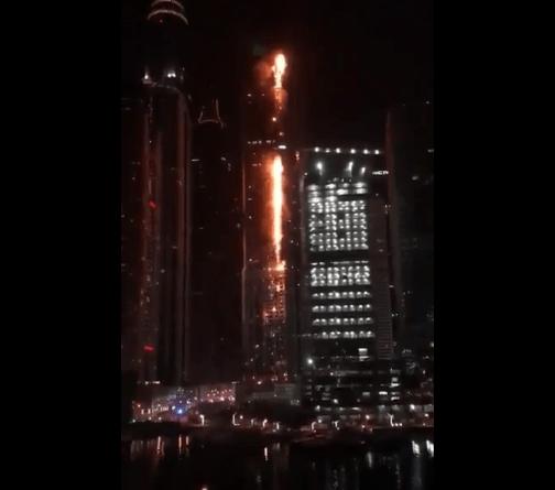dubai incendio grattacielo