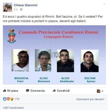 foto stupratori rimini false