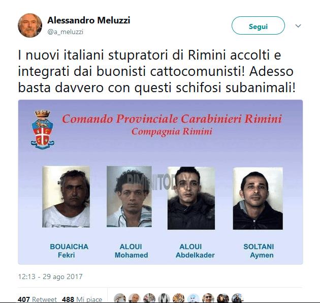 Stupro di Rimini: sui social le foto (false) degli aggressori