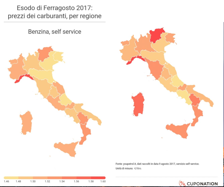 prezzi benzina italia
