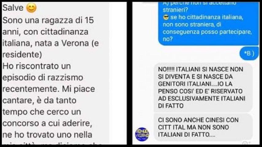 Verona: 15enne italiana con genitori del Ghana esclusa dal concorso canoro: 'sei straniera'
