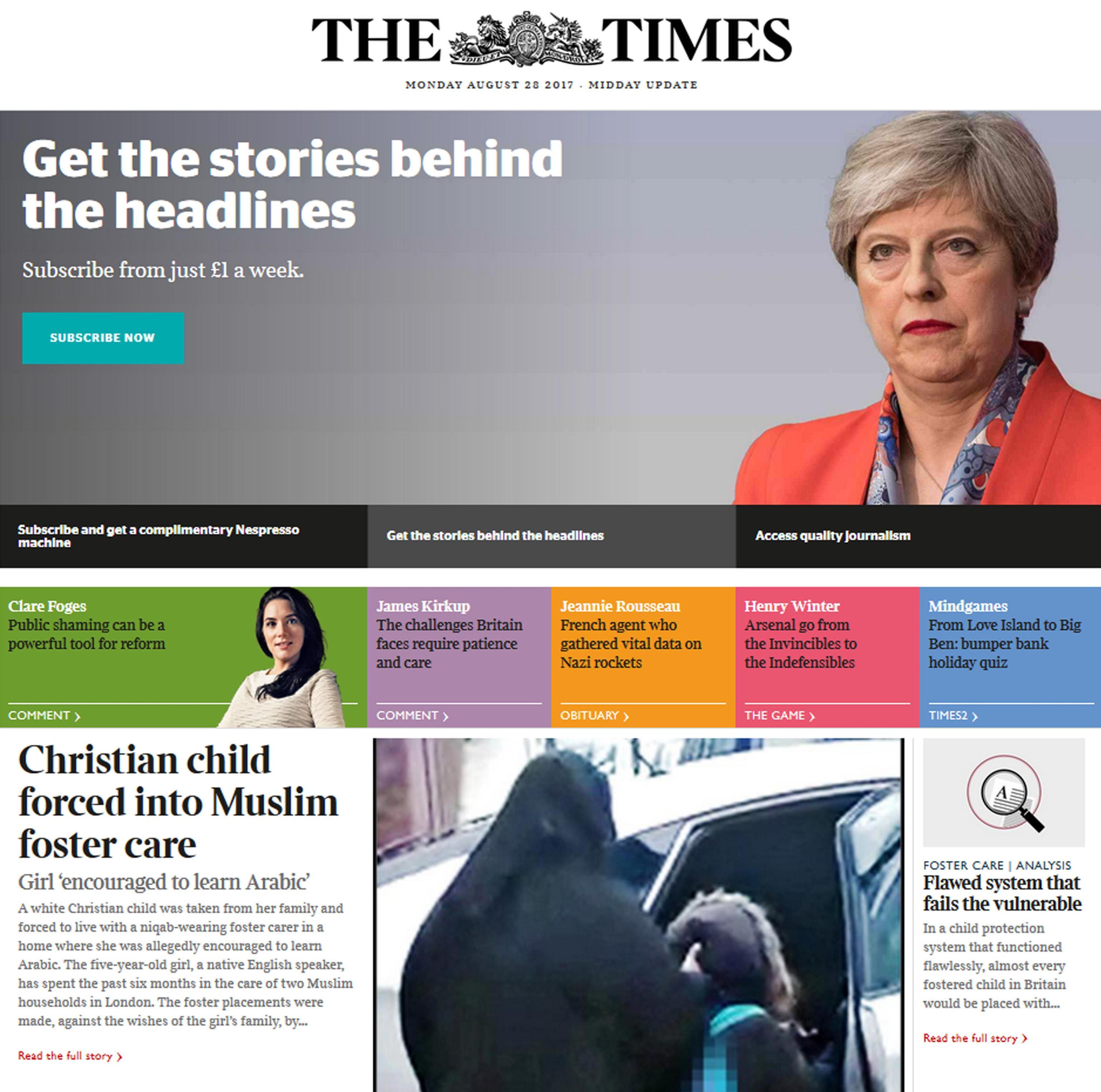 Bimba cristiana in affido a musulmani, polemica in Gb