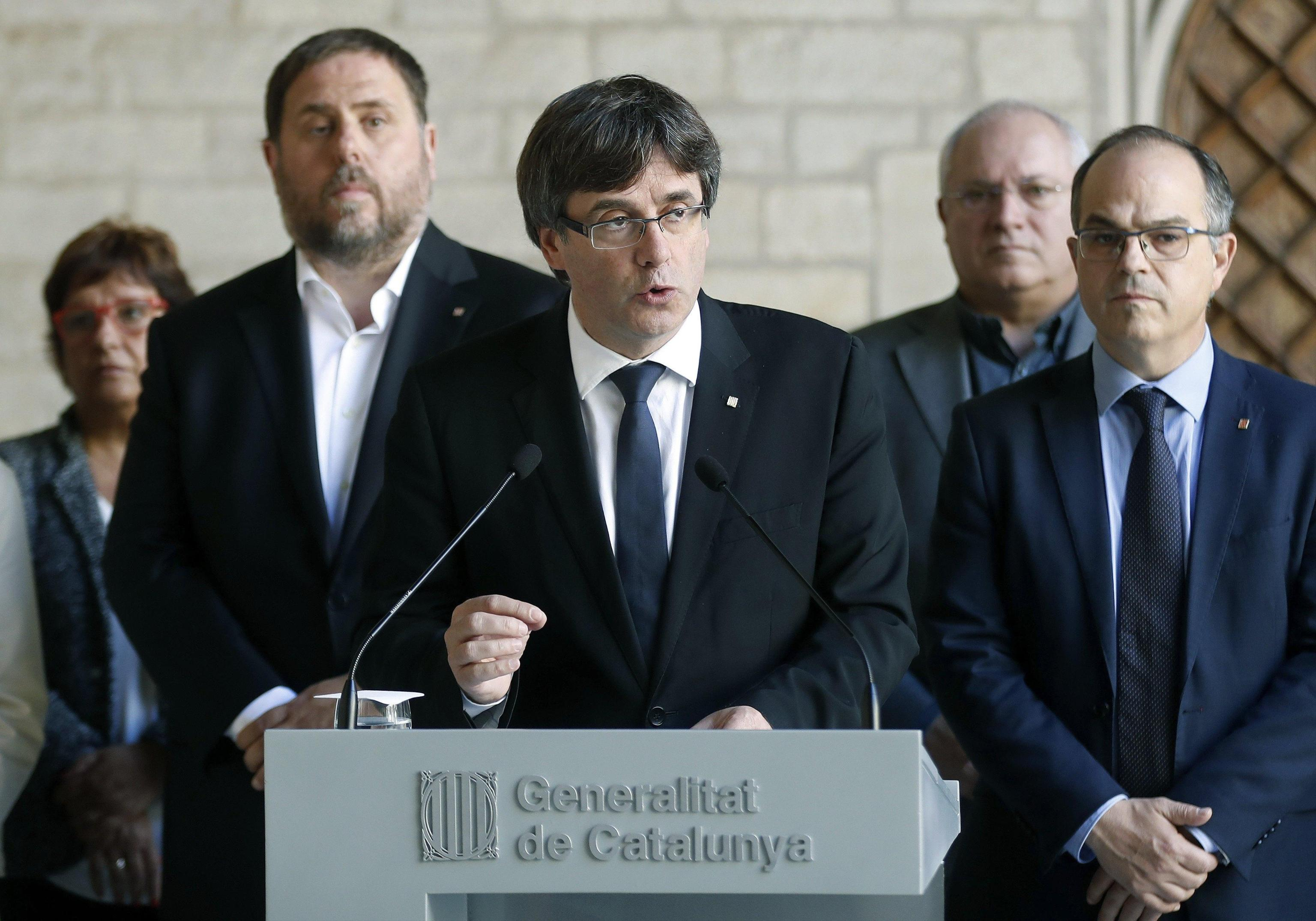 Catalan President Carles Puigdemont's press conference