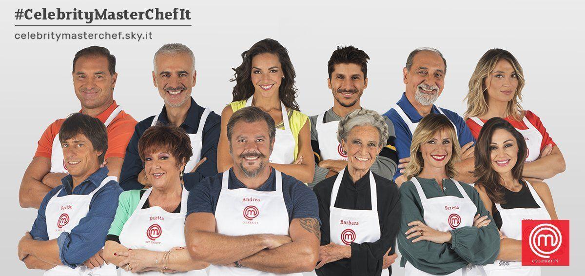 Celebrity MasterChef 2, cast: i concorrenti protagonisti di Sky Uno da marzo 2018