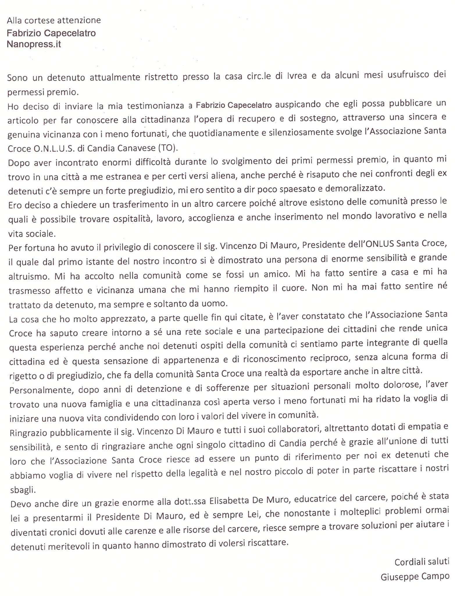 Lettera Campo 2