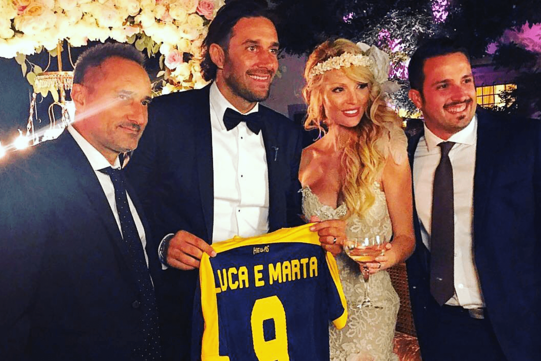 Luca Toni e Marta Cecchetto si sono sposati dopo vent'anni di amore
