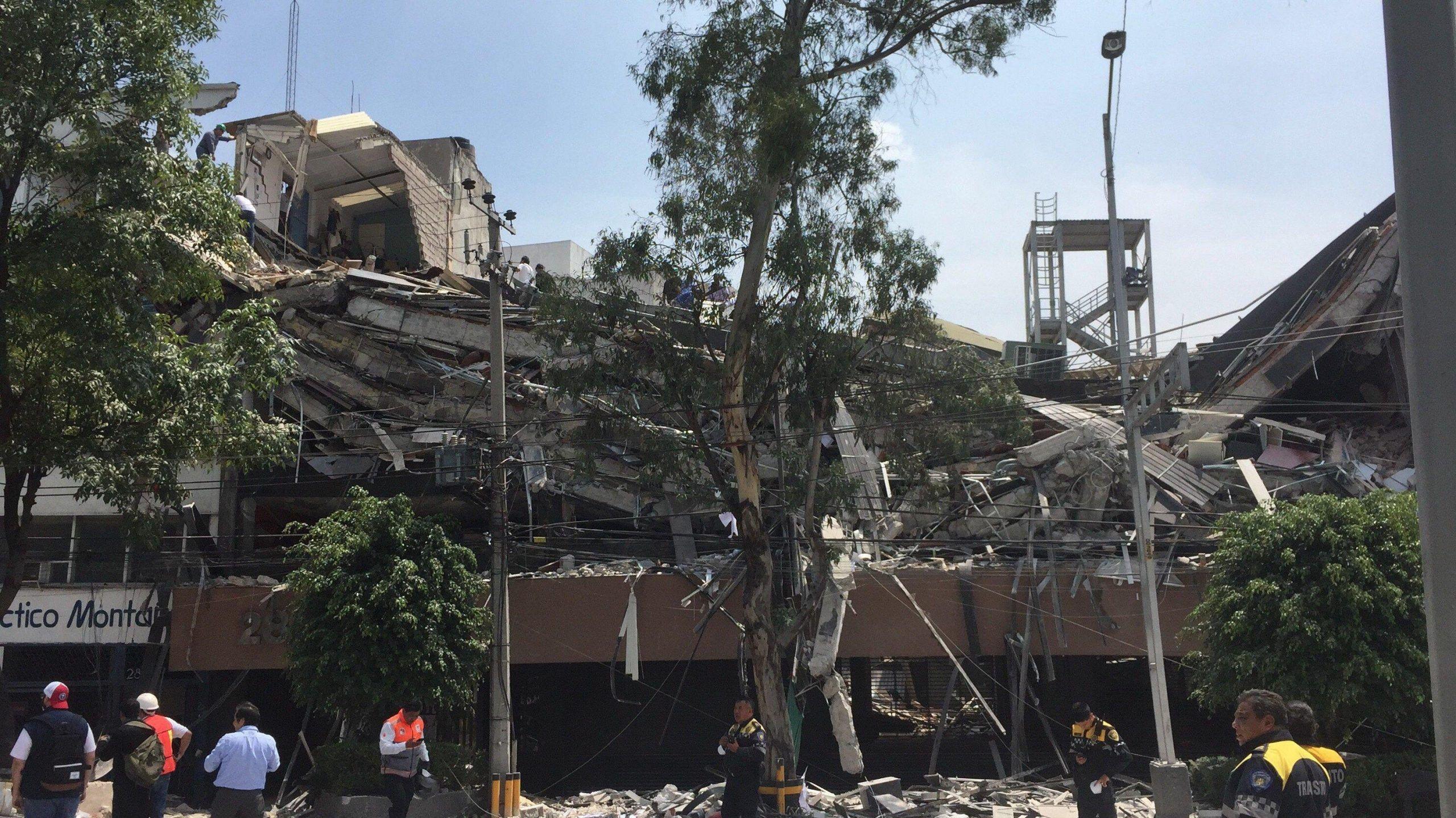 Magnitude 7.1 earthquake 5km ENE of Raboso, Mexico