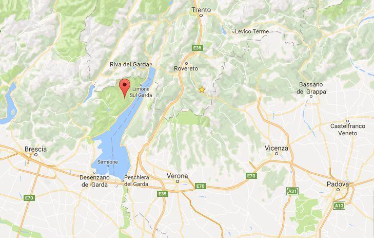 Terremoto sul Garda: tre scosse, la più forte di magnitudo 3.4