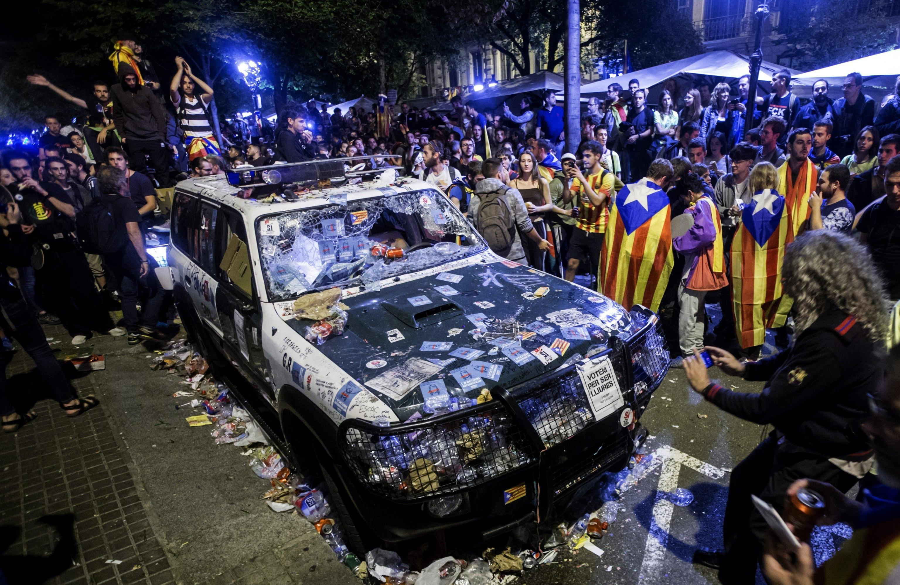 Riots in Barcelona