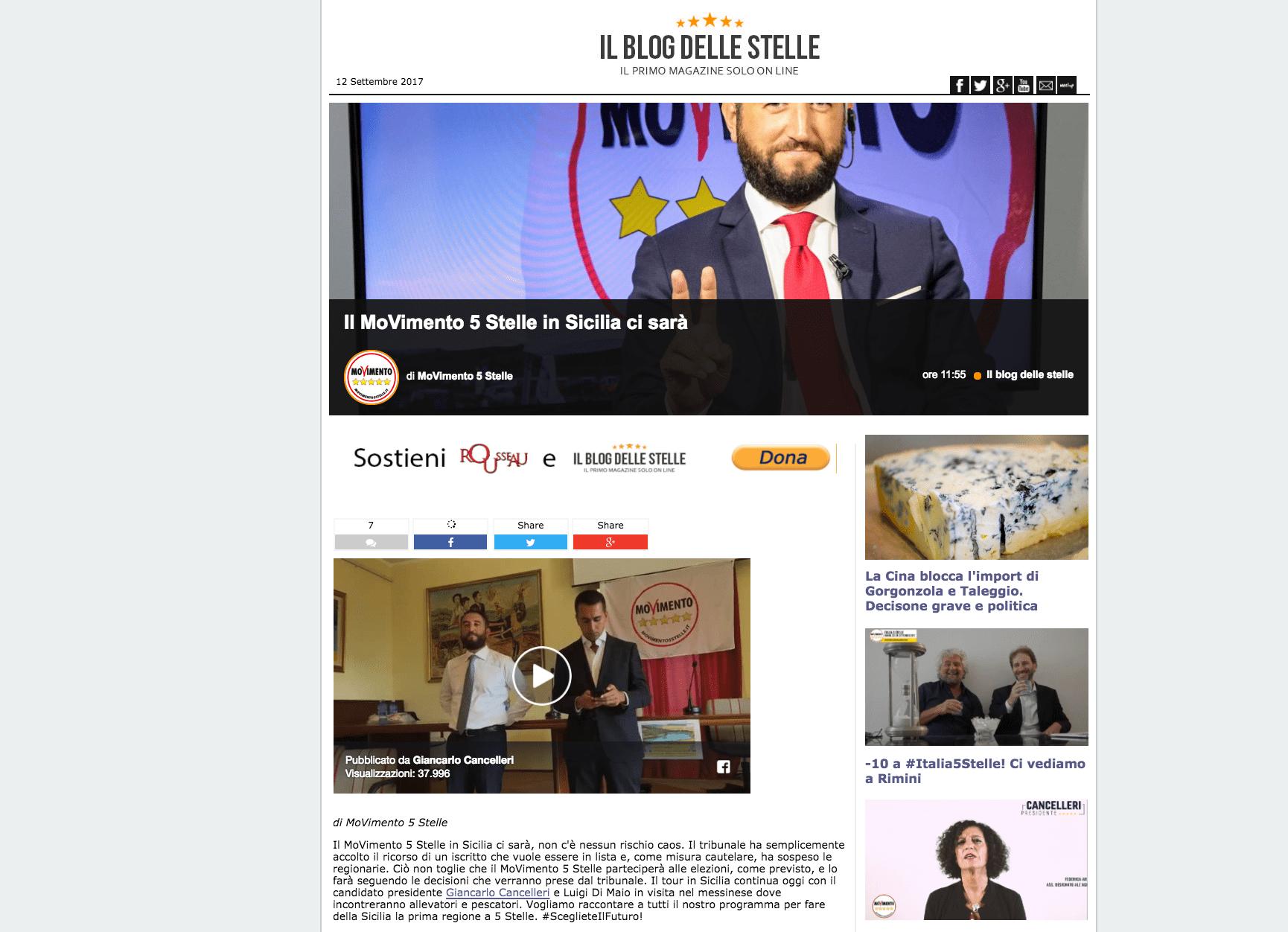 blog grillo sicilia