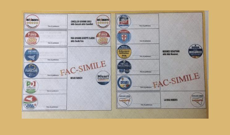elezioni sicilia scheda elettorale