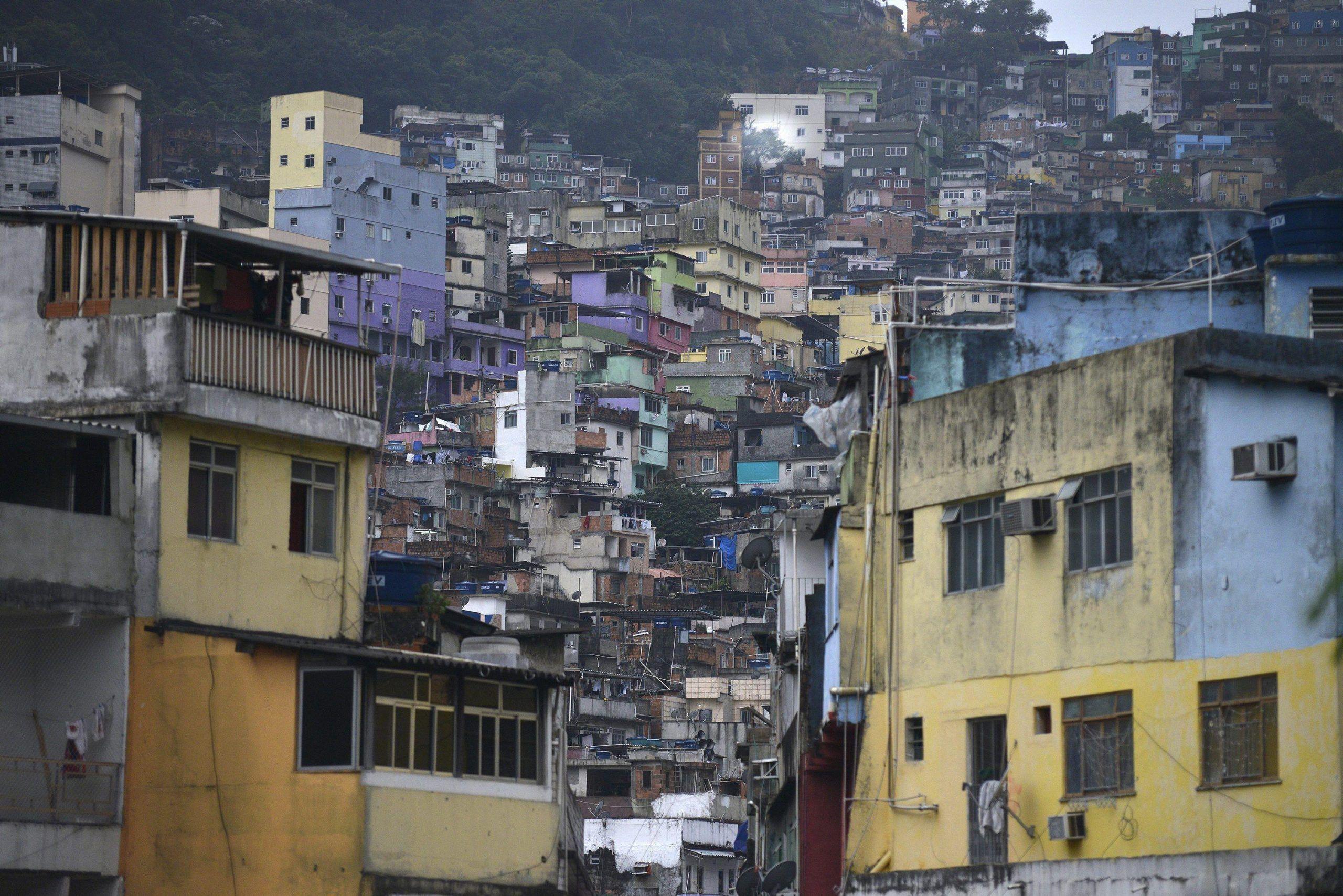 Daily life in the Rocinha favela at the south of Rio de Janeiro