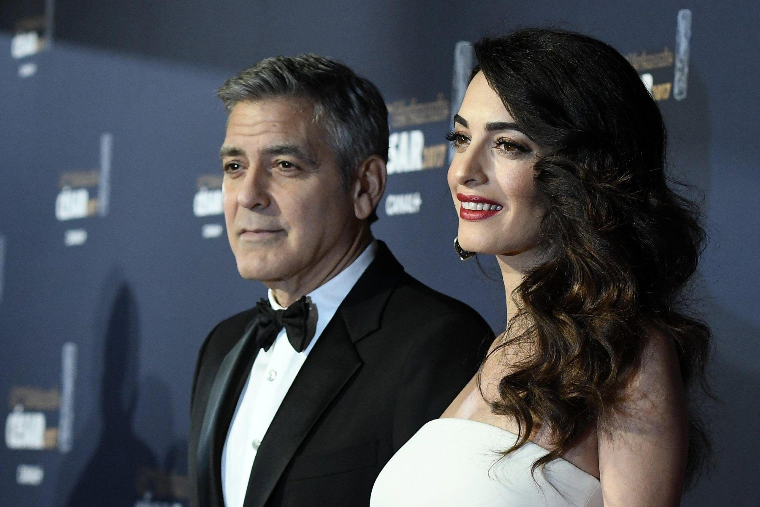 George e Amal Clooney a Venezia 2017: con loro anche i gemellini