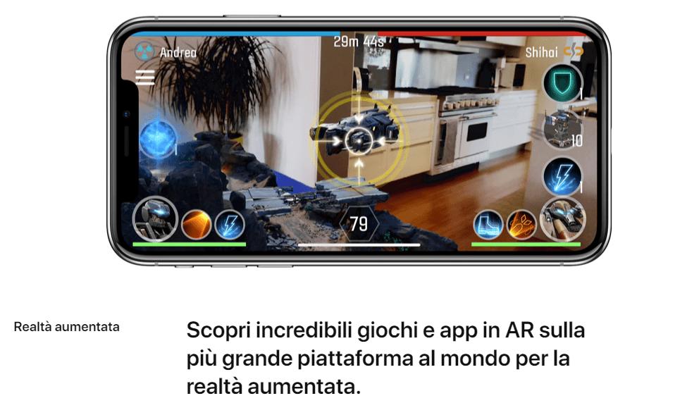 iPhone X realtà aumentata