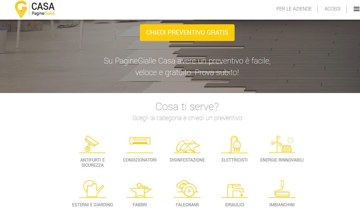 Pagine Gialle Casa, il nuovo portale che fa incontrare professionisti e clienti