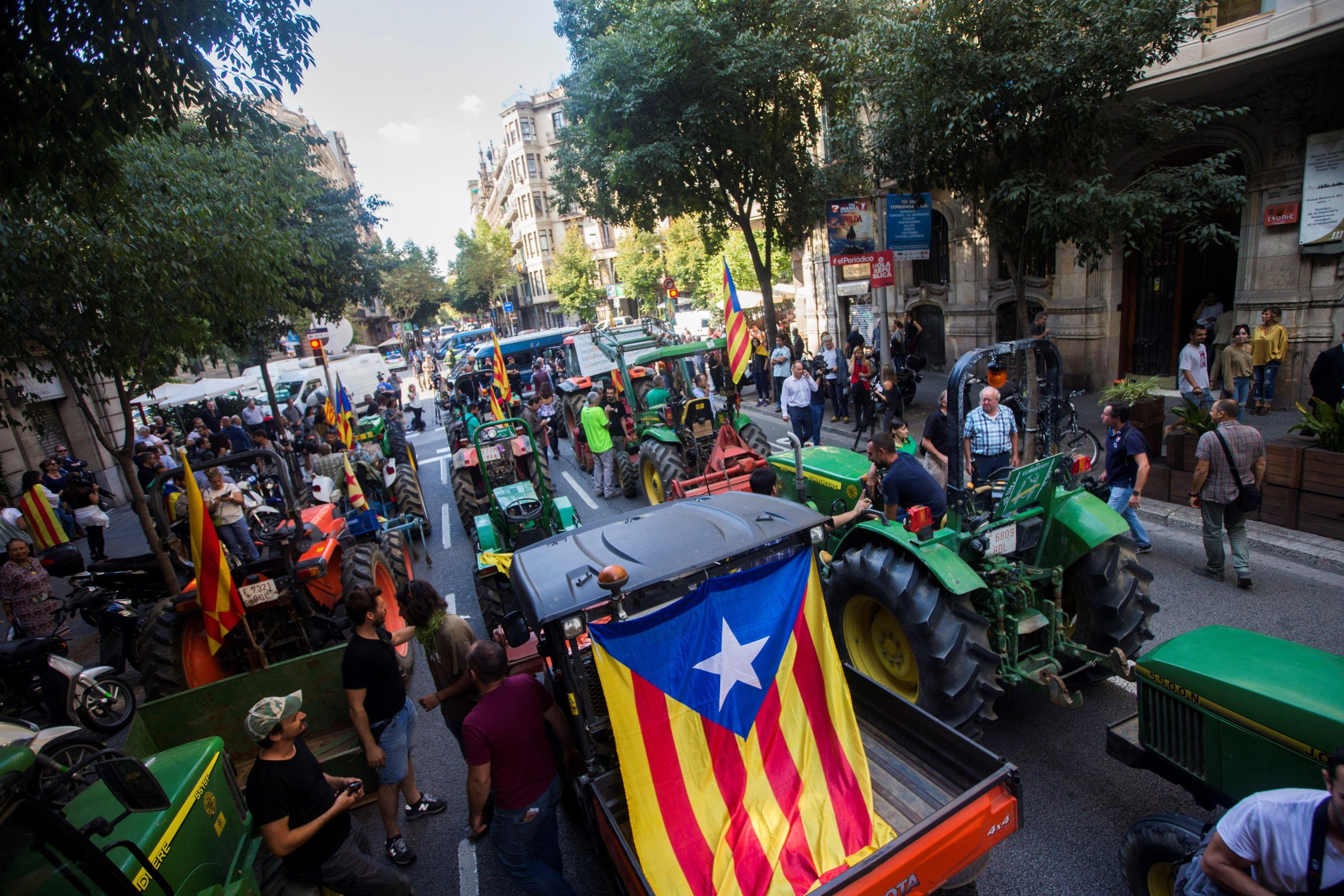 Protest in support of the Catalan referendum