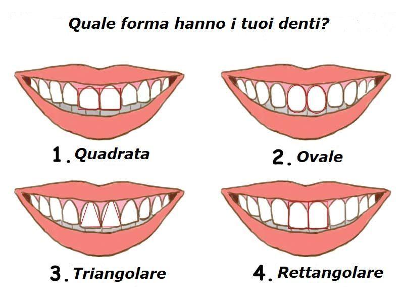 quale forma hanno i tuoi denti