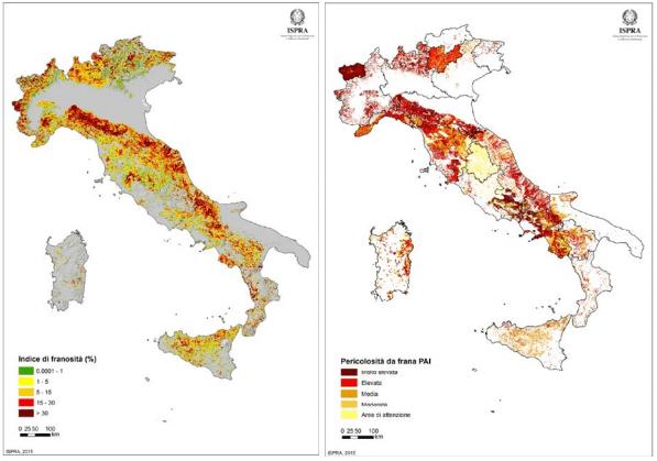 rischio frane in italia