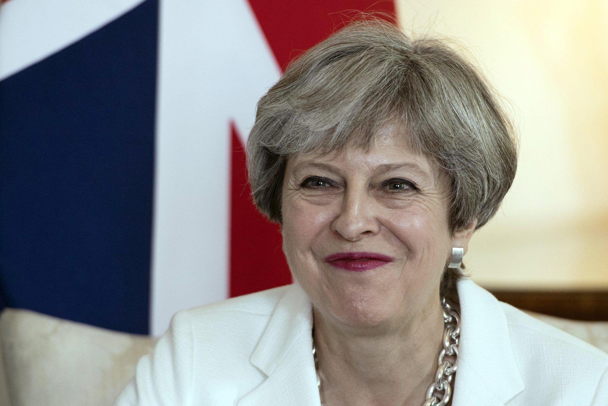 British Prime Minister Theresa May mets with Estonian Prime Minister Juri Ratas
