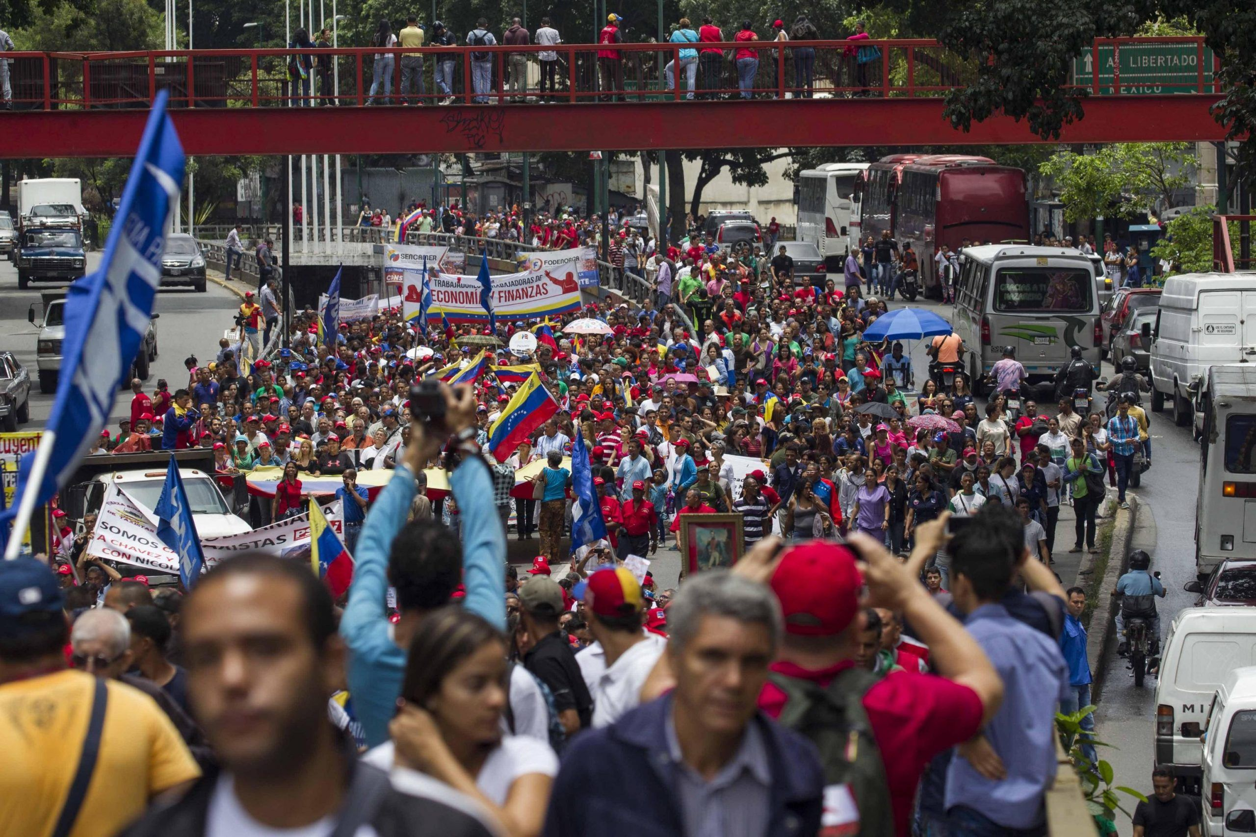 Anti imperialist' march in Caracas