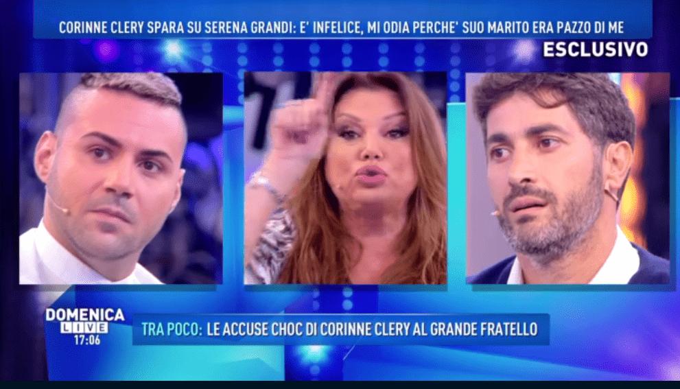 Serena Grandi contro Angelo Costabile a Domenica Live