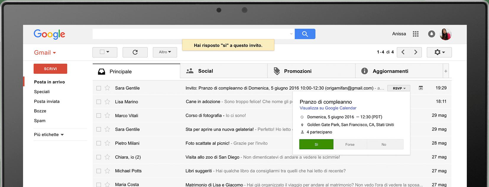 casella Gmail
