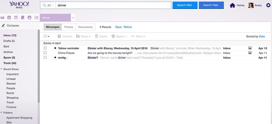 casella Yahoo mail