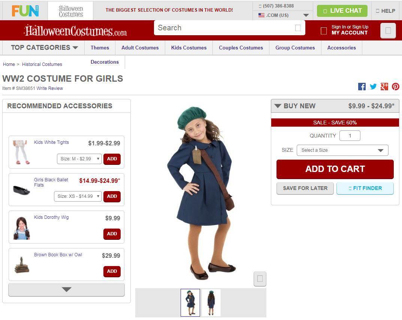 Costume di Halloween da Anna Frank in vendita online