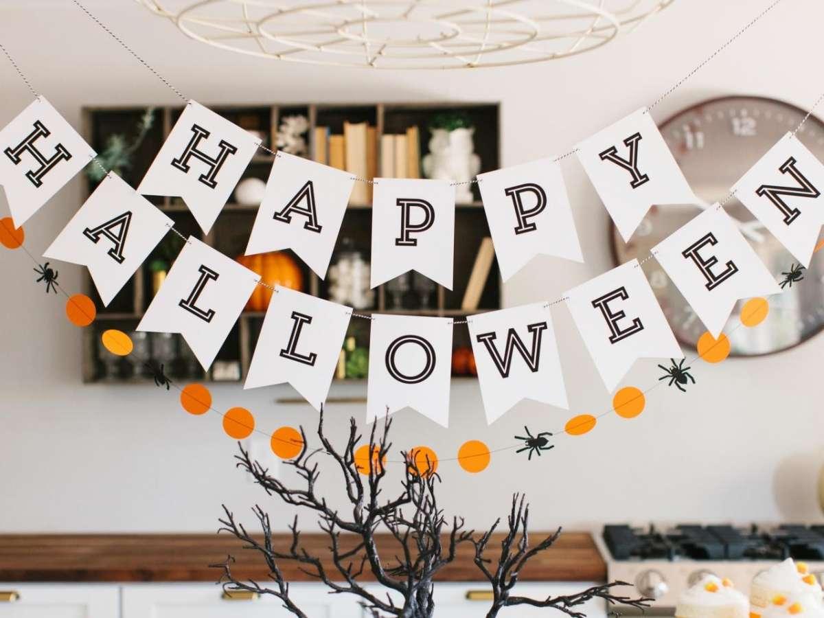 decorazione con carta halloween