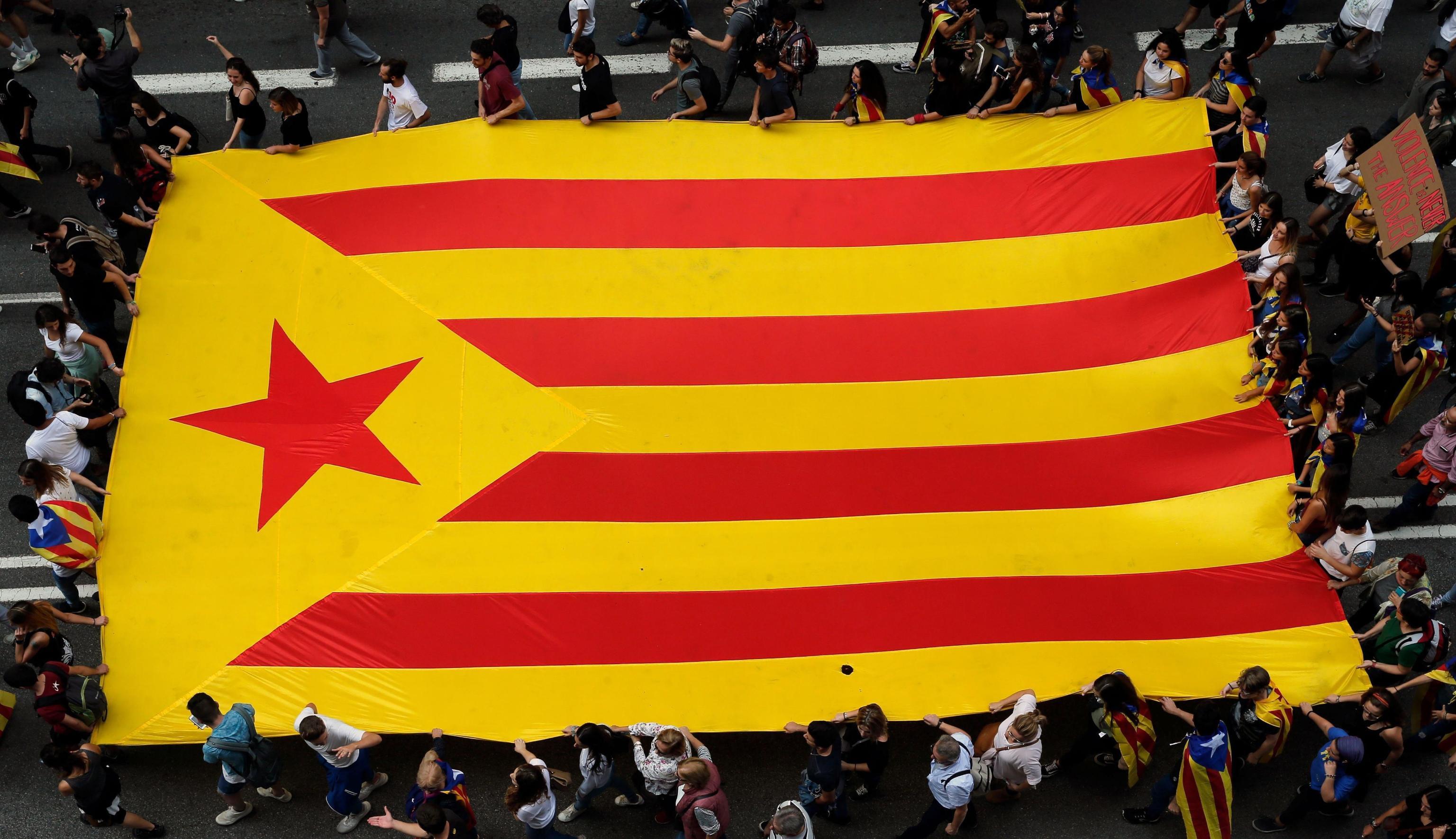 Catalonia estelada vermella