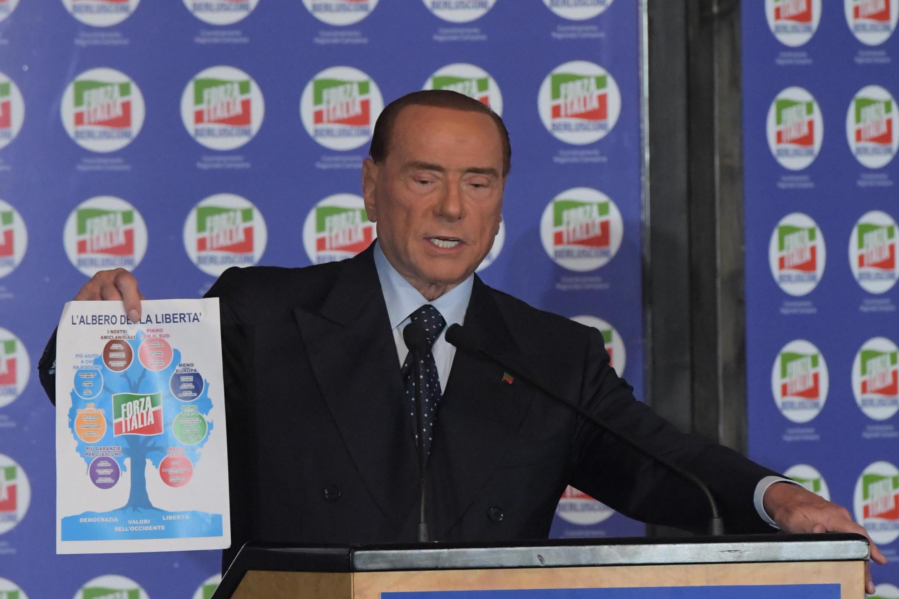 Berlusconi, programma politico Forza Italia: pensioni a mamme e diritti animali