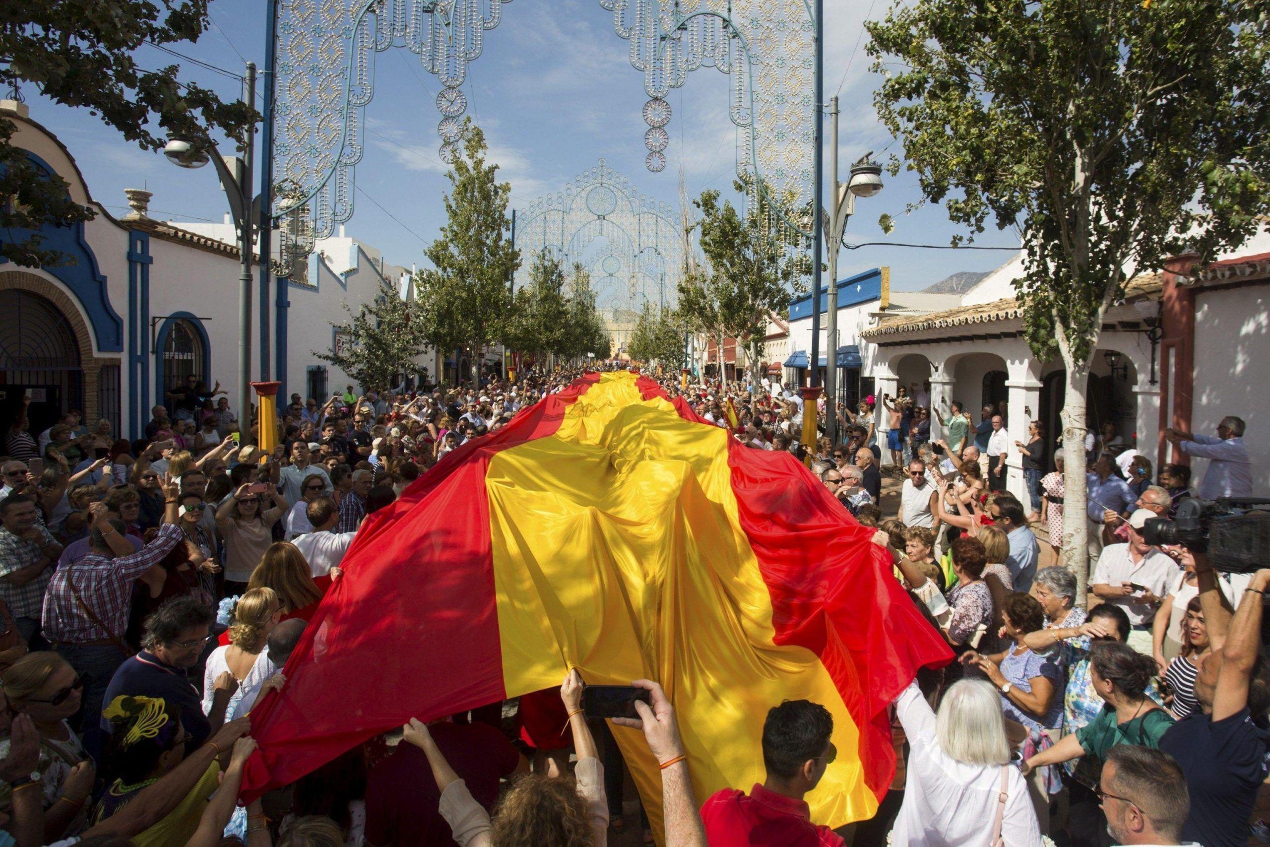Spain's National Day celebration in Malaga