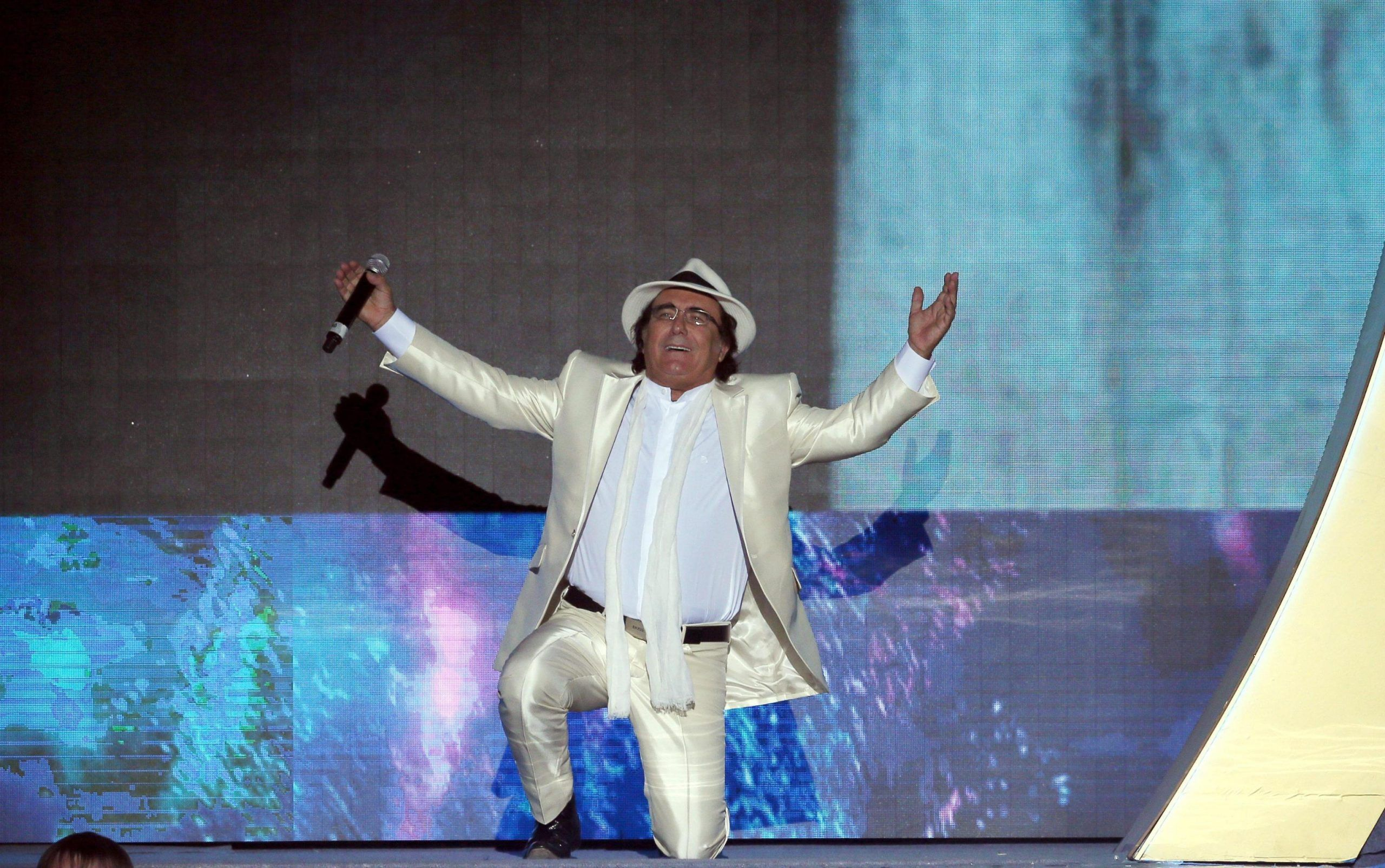 Italian singer Al Bano Carrisi performs in Moscow