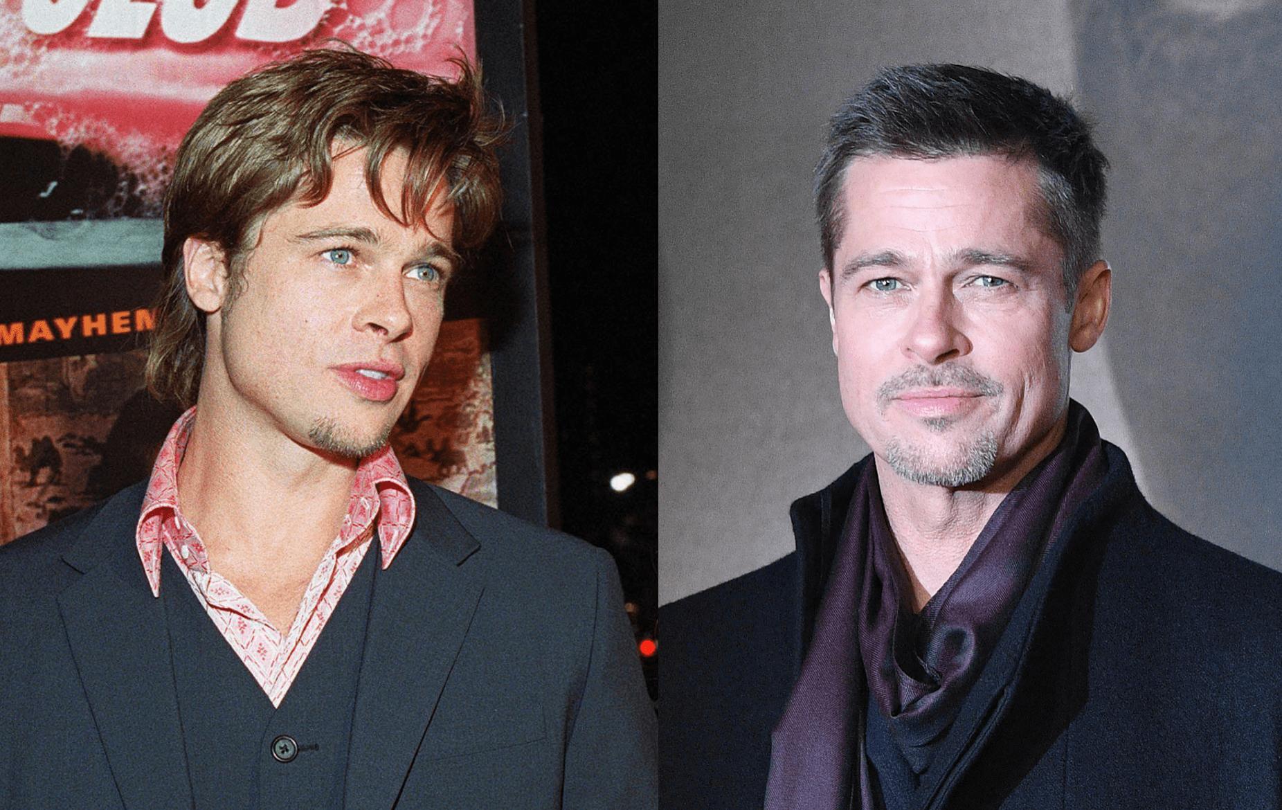 Brad Pitt ieri e oggi migliorato con l'età