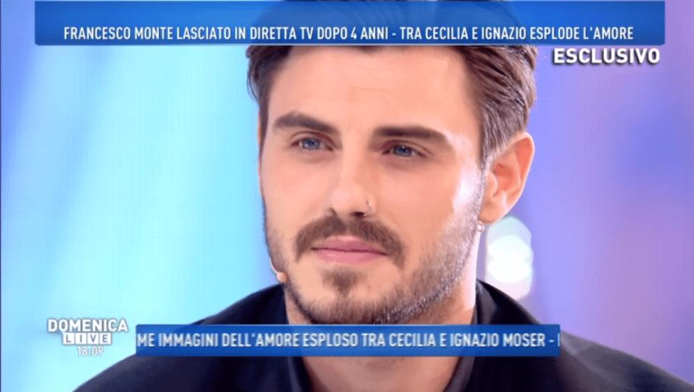 Francesco Monte a Domenica Live, 5 novembre 2017
