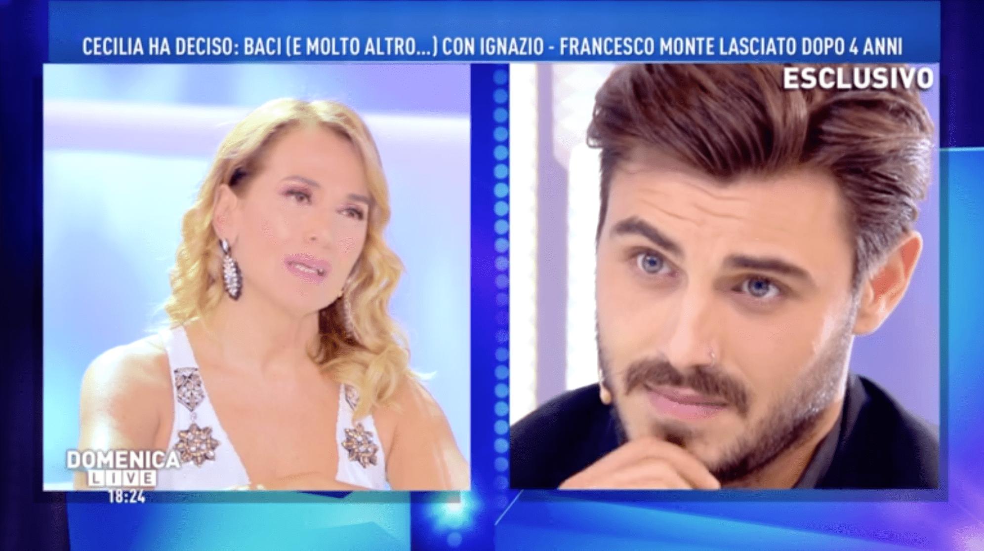 Francesco Monte, la lettera a Domenica Live: 'Mi sto riprendendo lontano dal circuito mediatico'