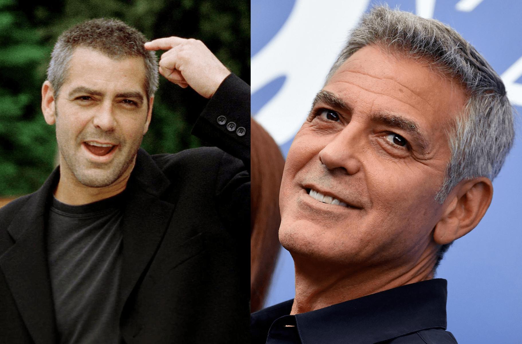 George Clooney ieri e oggi migliorato età