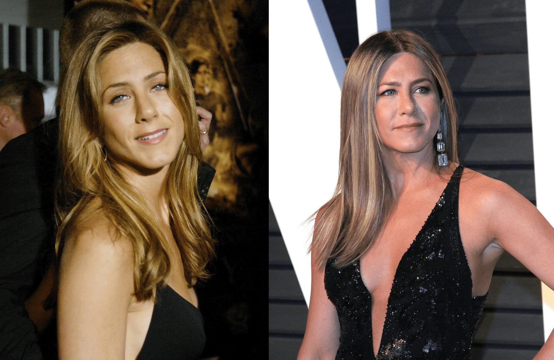 Jennifer Aniston migliorata con l'età ieri e oggi